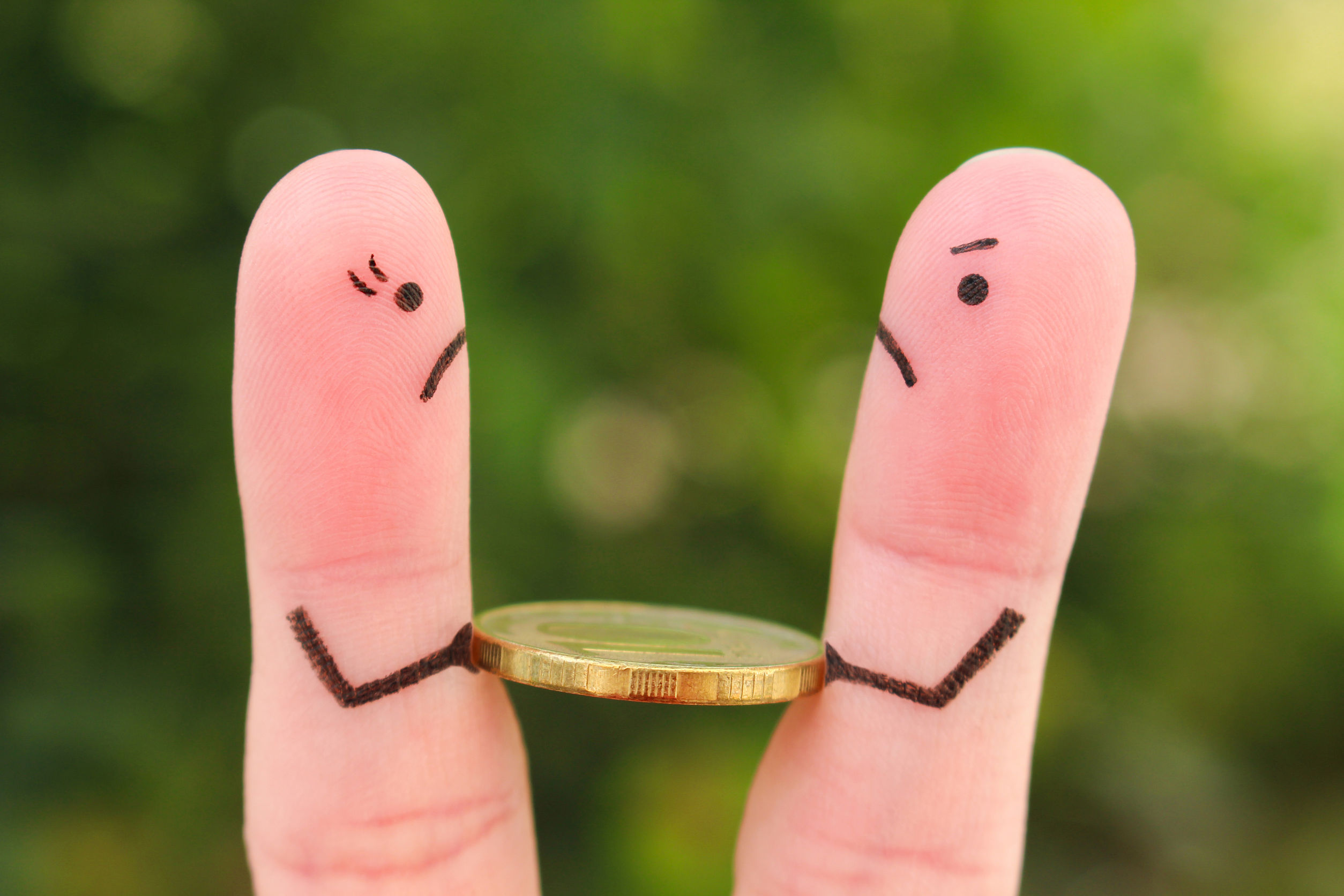fingers smiley sad angry money worries killing your marriage finances