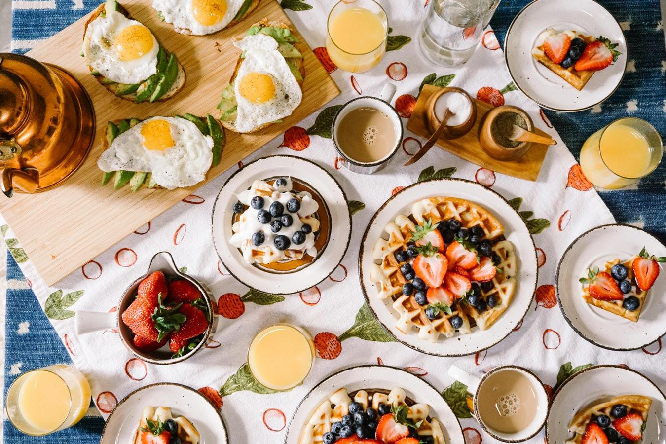 waffles pancakes berries coffee and eggs brunch lunch breakfast brunch keeping australians healthy