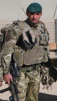 Joe Vince as a Royal Marine Commando.