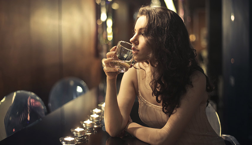 Woman drinking